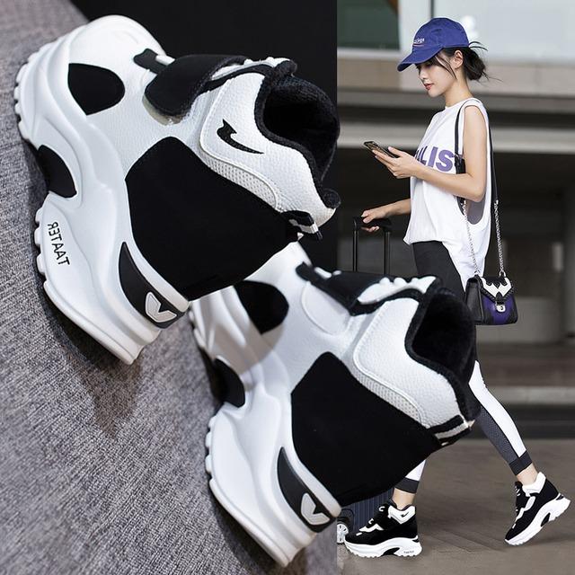 【シューズ】ファッションカジュアル丸トゥ厚底スニーカー43314126