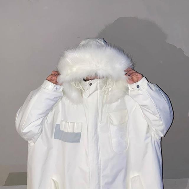 volume fur down jacket