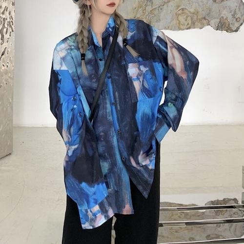 アートプリントルーズシャツ RD9401