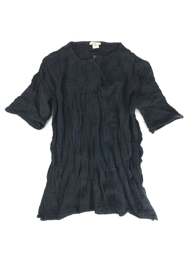 ダブルガーゼ T-shirts ユニセックス ブラック