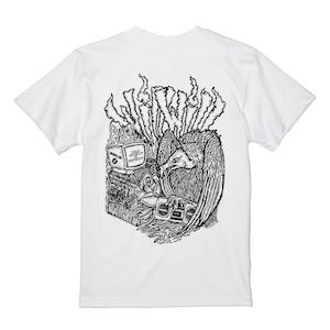 【WillxWill × Musollon】スペシャルコラボレーション Vulture T-shirts White