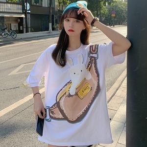 キュートラビットプリントTシャツ S4051