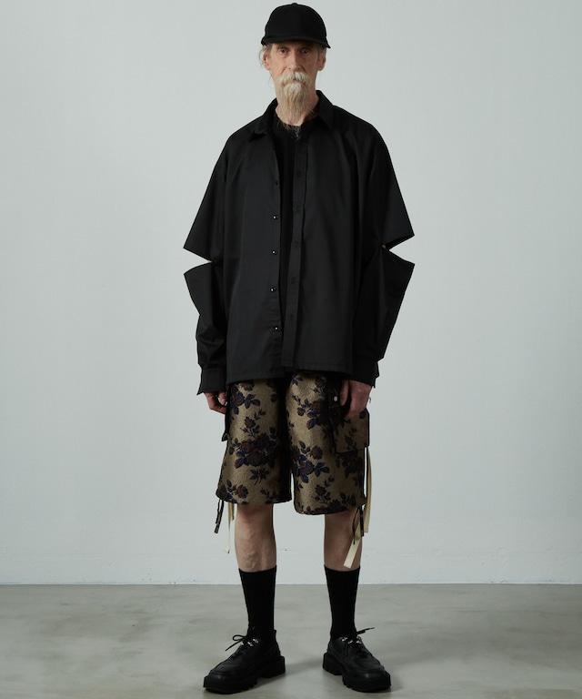 【 last 】UNSELDS  elbow slit shirt  Black