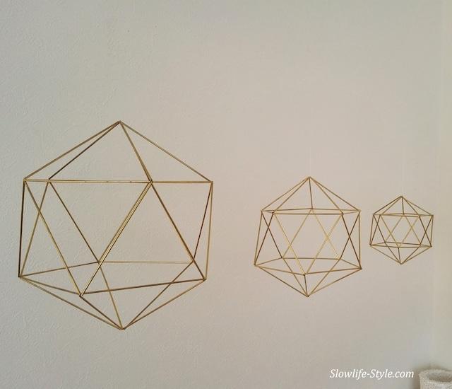 浮遊する真鍮ヒンメリ#1「ダイヤモンド」