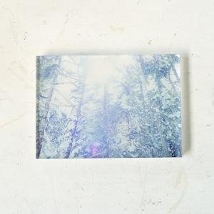 【mt.souvenir】山の透けるアクリルパネル/八ヶ岳の雪光(14×10cm)