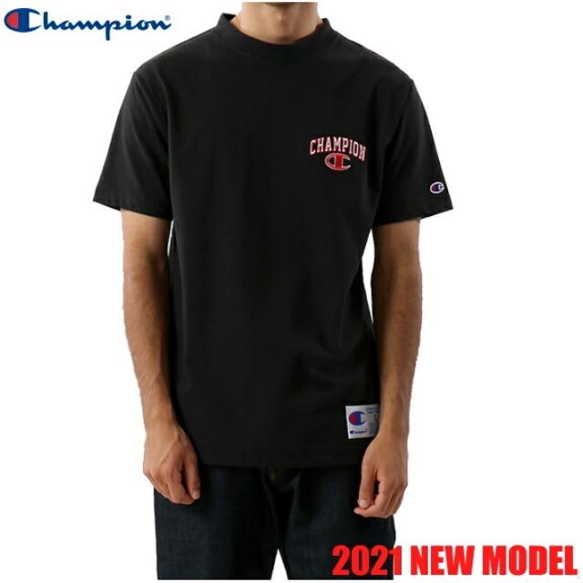 チャンピオン 半袖 Tシャツ クルーネック アクションスタイル メンズ CHAMPION 正規販売店 C3-T349 ブラック