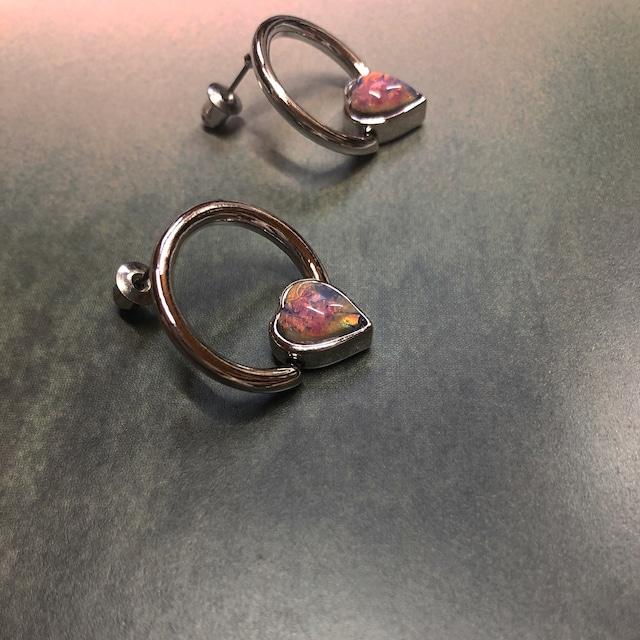 pink opal BEADS earring 両耳 #LA19010P ピンクオパールビーズピアス両耳