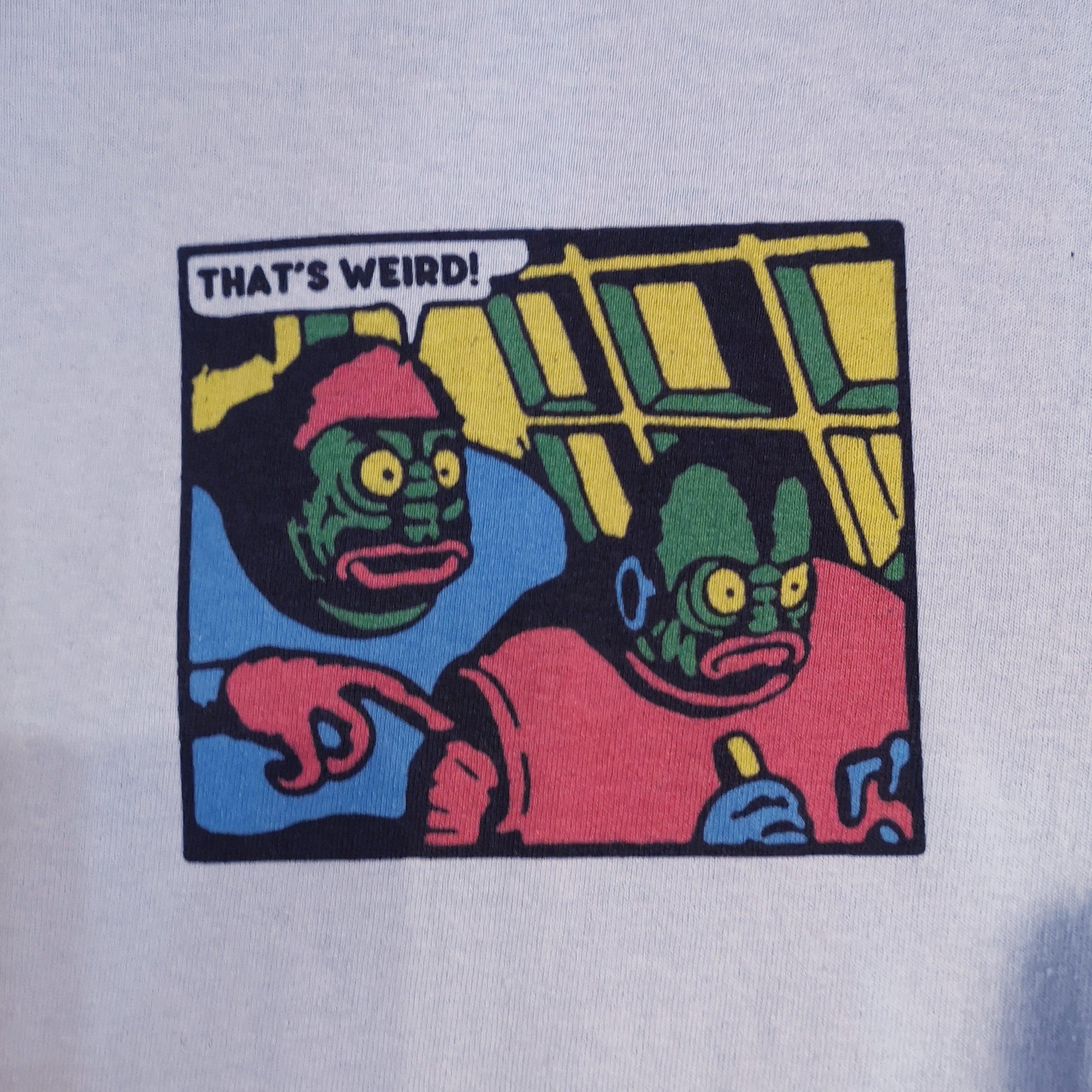 """PRANK Weird Store """"THAT'S WEIRD!"""" / LIGHT BLUE LONG TEE"""