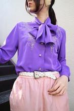 Purple ribbon blouse