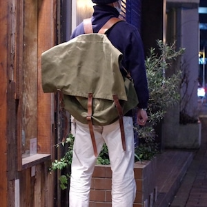 """〜1950s Monarch Brand """"2way"""" Canvas Bag / Back Pack & Shoulder"""