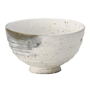 信楽焼 へちもん 飯碗 茶碗  約13cm 残雪 MR-3-3496