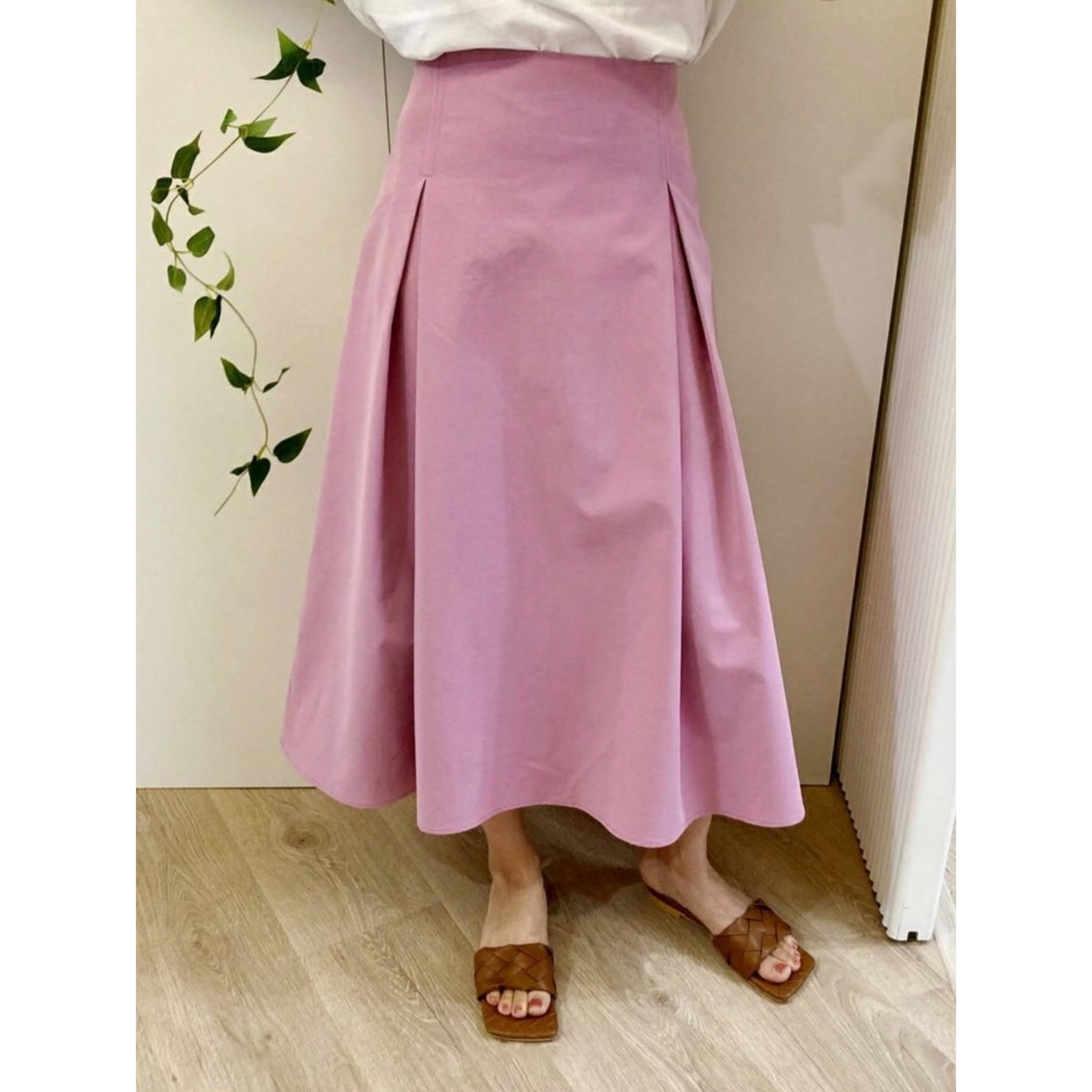 【即納】ピンクフレアスカート