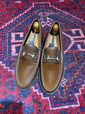 .GUCCI LEATHER HORSE BIT LOAFER MADE IN ITALY/グッチレザーホースビットローファー 2000000050140