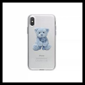 【お取り寄せ】ブルー テディベア iPhoneケース