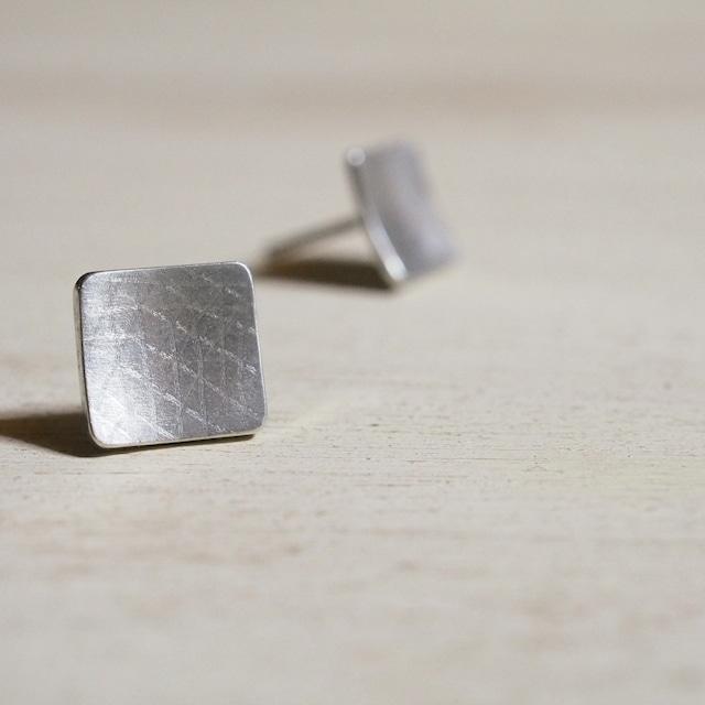 スクエアピアス(silver)
