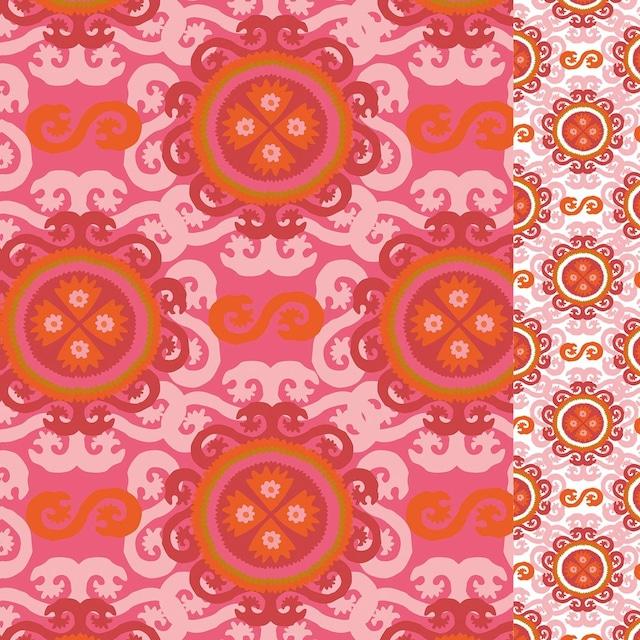 【Paperproducts Design】バラ売り2枚 ランチサイズ ペーパーナプキン Rekka Suzani コーラル