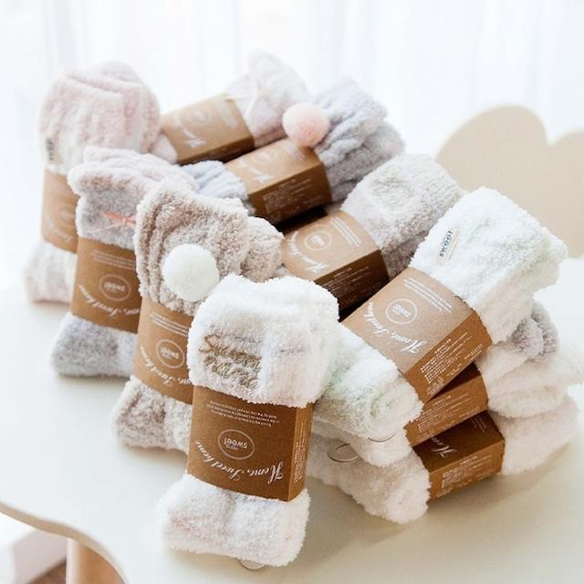 IPLAYBOX 可愛いふわふわ 女性用 ソックス 靴下 暖かい eb032496