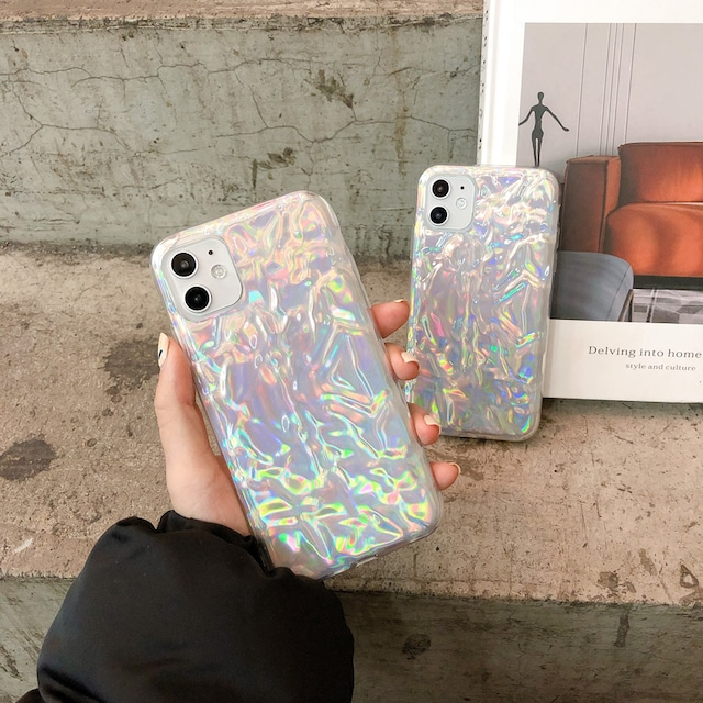 グラデーションオーロラiPhoneケース S3901