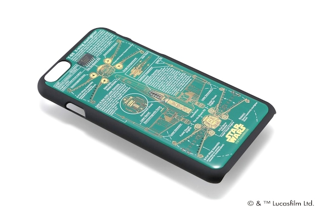 FLASH STAR WARS 基板アートiPhone6/6s ケース  緑  【東京回路線図A5クリアファイルをプレゼント】