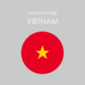 円形国旗ステッカー「ベトナム」ミスターシールオリジナル 世界各国 国旗シール おしゃれ円型  旅行 おみやげ プレゼント ステッカーチューンなどに