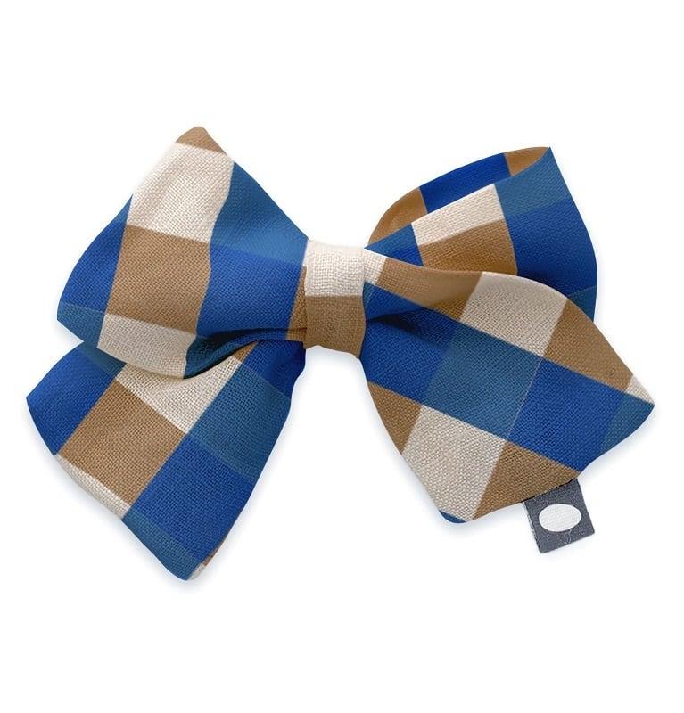 Oeuf Bow clip/sky blue