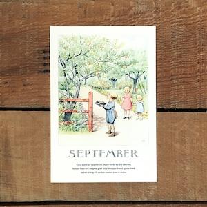 ポストカード「9月@SEPTEMBER(いちねんのうた - 09)」