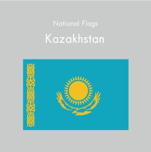 国旗ステッカー カザフスタン