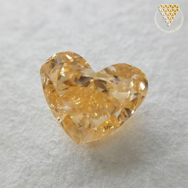 0.913 ct Fancy Intense Orangy Yellow I1 天然 オレンジー イエロー ダイヤモンド