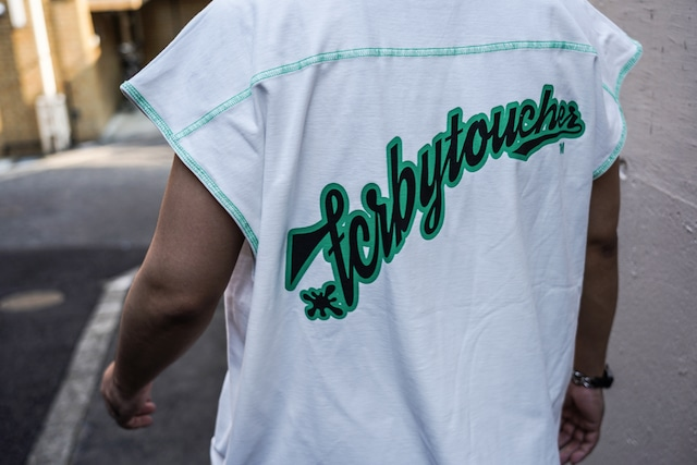 T.C.R CREW OVERSIZED N/S TEE  - exclusive - WHITE / GREEN