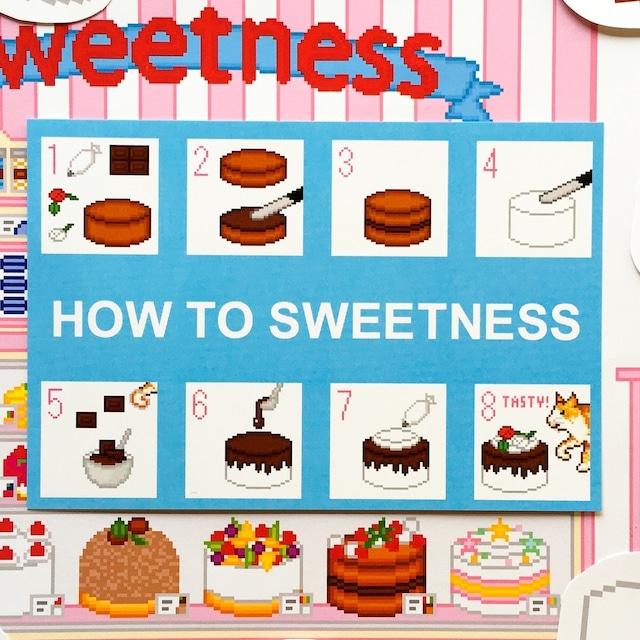 ポストカード Sweetness チョコレートケーキの作りかた柄