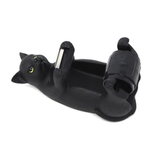 猫テープカッター(テープディスペンサー黒猫)ミニ