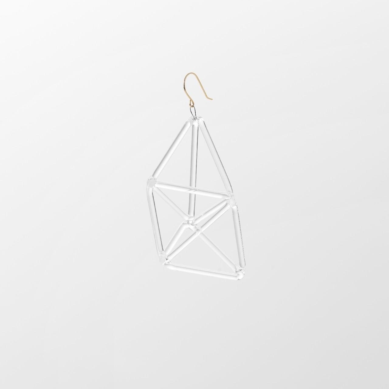 _cthruit シースルーイット triple triangle earring ピアス 【Clear】