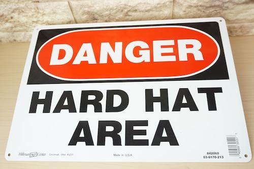 アルミ看板(DANGER HARD HAT AREA)