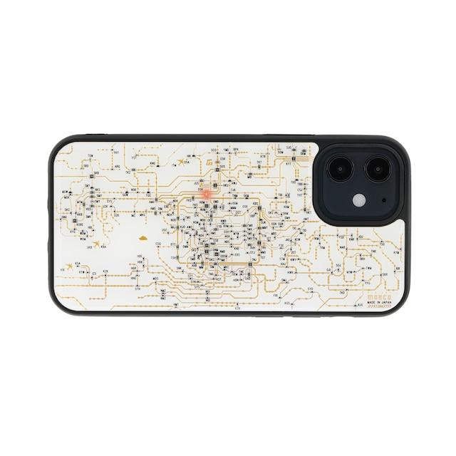 FLASH 関西回路線図 iPhone 12 mini ケース  白【東京回路線図A5クリアファイルをプレゼント】