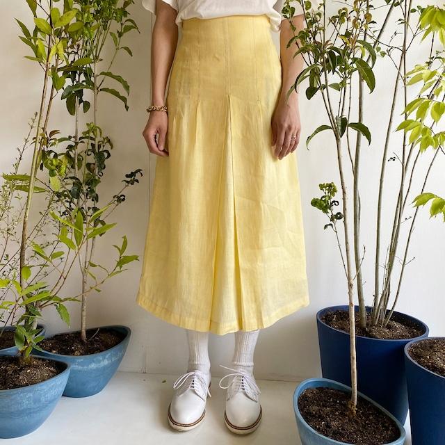 "Tight skirt ""light yellow"""