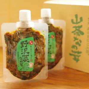 信州森のきのこ工房 山茶なめ茸(野沢菜) 12パック