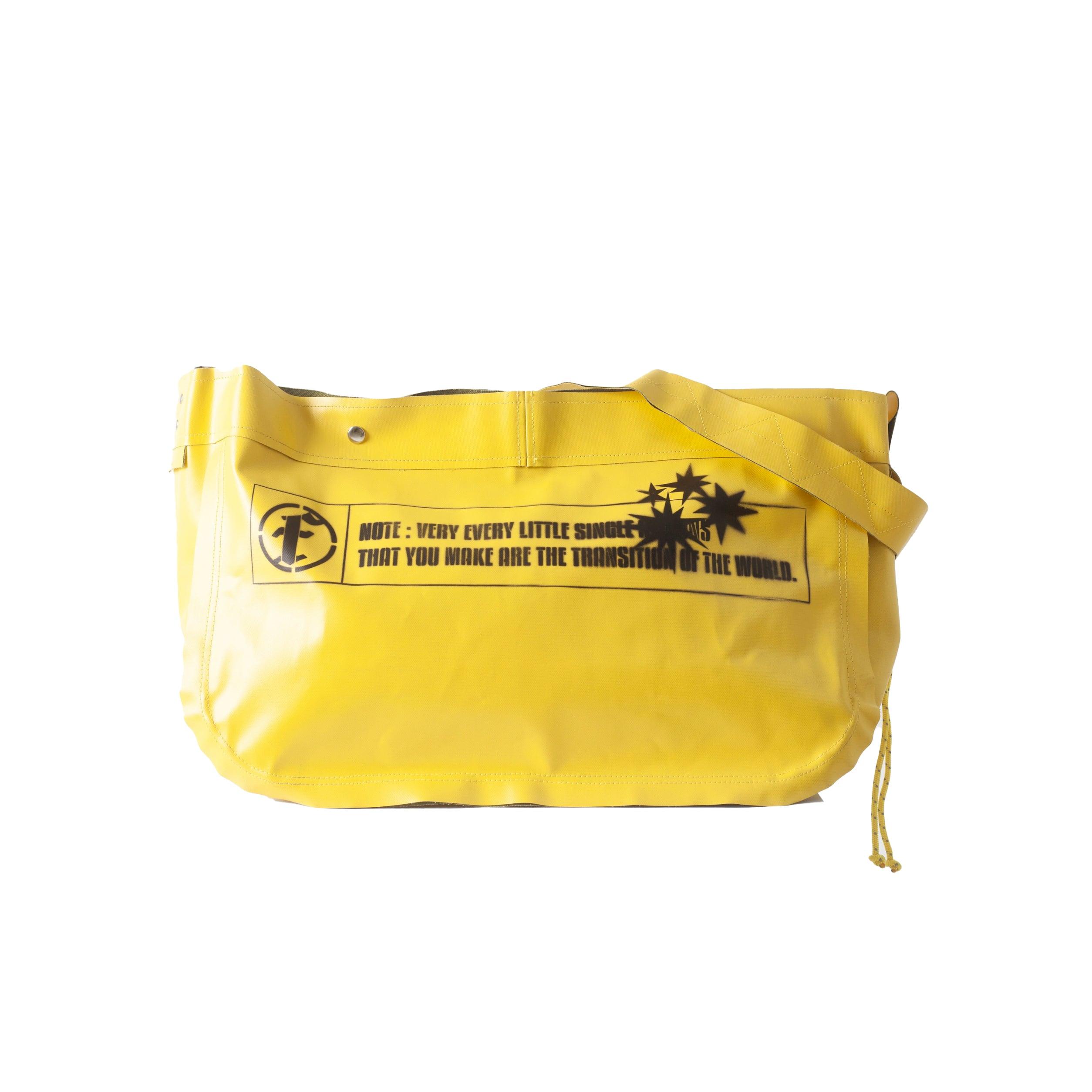 PVC CANVAS SHOULDER BAG / YELLOW GREEN - 画像1