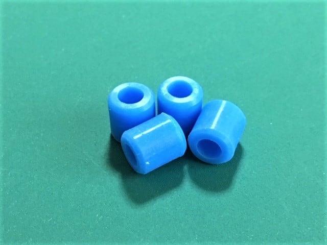 T-REX450 / 470 / Forza450 等このクラス用スキッドナット カラー/ブルー 4個セット