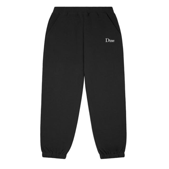 DIME CLASSIC SMALL LOGO SWEATPANTS BLACK