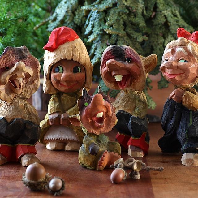 Henning ヘニング Troll トロール 木彫り人形-1 北欧ヴィンテージ