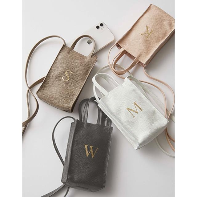 Initial Pochetto Premium Shrink Leather (イニシャルポシェット)