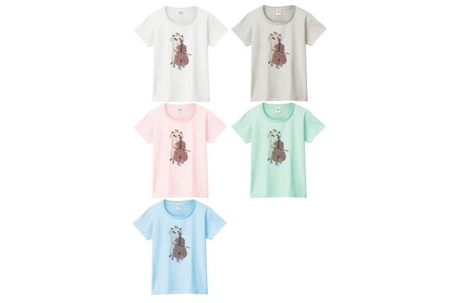 チェロ猫のTシャツ