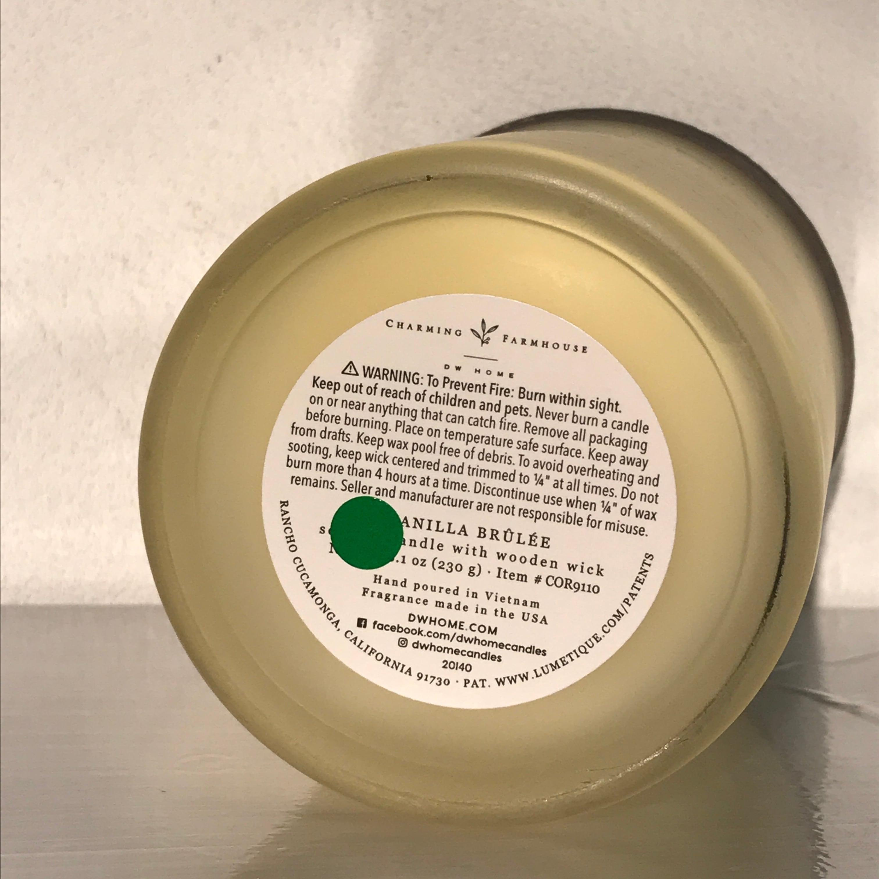 【DW Home Candles】VANILLA BRÛLÉE【アロマキャンドル】