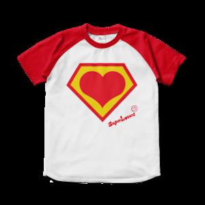 1988 handwritten logo/スーパーラヴァーズラグラン配色Tシャツ