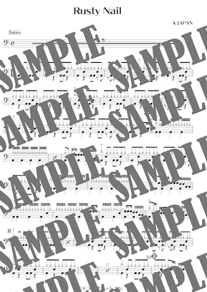 Rusty Nail/X JAPAN(ドラム譜)