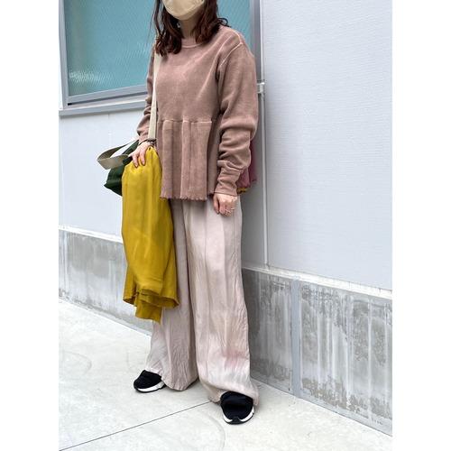 【hippiness】cupro shirring pants (113beige) /【ヒッピネス】キュプラシャーリングパンツ(113ベージュ)