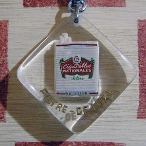 フランス cigarettes NATIONALES タバコ広告ノベルティ ブルボンキーホルダー