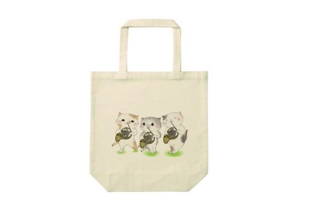 ホルン3匹猫のトートバッグ