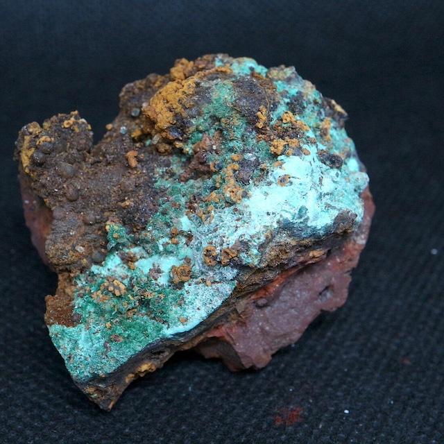 カリフォルニア州産 ブロシャン銅鉱 + クォーツ 67,5g BRN004 鉱物 原石 天然石 パワーストーン