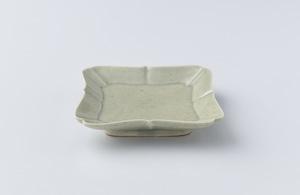 高島大樹 緑滴釉額皿(小)